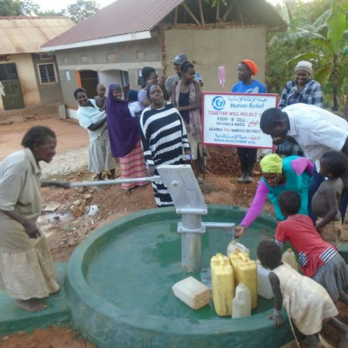 Water well in Uganda